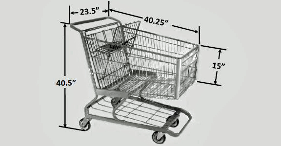 Large Scanner Metal Shopping Cart