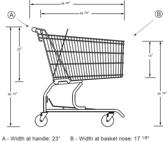 Regular Size Metal Shopping Cart